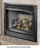 "Performance 36"" Propane Gas Fireplace with Brick Interior"