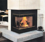 "Fireplace Smooth Face Corner 36"" with Insulation - Right Side Open"