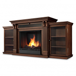 Dark Espresso Calie Gel Fuel Fireplace & Entertainment Unit