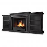 Blackwash Frederick Gel Fuel Fireplace & Entertainment Unit