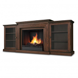 Chestnut Oak Frederick Gel Fuel Fireplace & Entertainment Unit