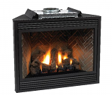 "Premium 36"" Direct-Vent IP Control LP Fireplace with Blower"