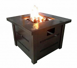 LP Fire Pit with Lid- Antique Bronze
