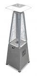 Portable Glass Tube Patio Heater - Stainless Steel
