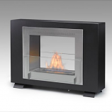 Wellington 2-Sided Built in Fireplace - Matte Black and Steel
