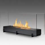Vision II 2-Sided Built in Fireplace - Matte Black