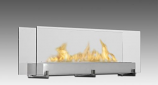 Vision III 2-Sided Built in Fireplace - Stainless Steel