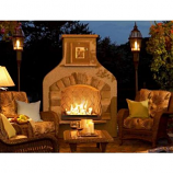 Sonoma Gas Fireplace Surround in Mocha with CF-1224 Burner