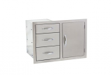 Summerset SSDC-3 Door and 3-Drawer Combo