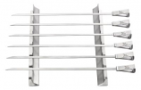 Stainless Steel Grilling Kabob Rack with 6 Extra Wide Skewers