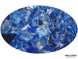 "Boone Hearth 10 LB Bag of 1/4"" Sapphire Reflective Fire Glass"