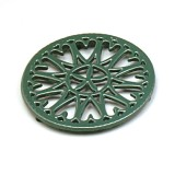 "C33GR- 7"" Sunburst - Cast Iron Trivet"