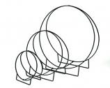 "Wrought Iron Wood Hoop -  48""H"