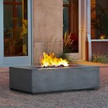 Real Flame Baltic Rectangle Fire Table in Glacier Gray
