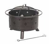 Lantana Steel Fire Bowl