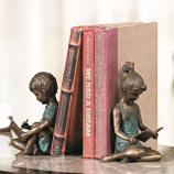 Pair of Boy & Girl Bookends
