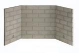 Superior BLB42SR White Stacked Refractory Brick Liner