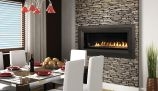 "Superior 43"" MV Linear Vent-Free Fireplace w/Lights & Glass Pebbles-NG"