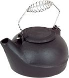 Black Cast Iron 2.7 Quart Humidifier with Chrome Handle - 6 inch