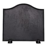 Black Cast Iron Plain Fireback - 16 x 17.5 inch