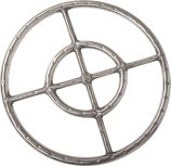 304 Stainless Steel Fire Ring with 3/4 inch Tubing - 15 inch