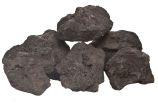 Black Lava Rocks - 6 to 12 inch - 30 lb box