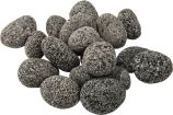 10 LBS Rolled Lava Rocks for Gas Fireplaces and Outdoor Fire Pits - 1 to 2 inch