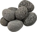 "10 LBS Rolled Lava Rocks for Gas Fireplaces and Outdoor Fire Pits - 3"" to 5"""