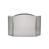 Satin Nickel 3 Fold Arched Panel Screen - 31 inch