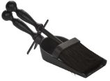 Black Steel Ash Brush and Cast Iron Shovel - 11.5 inch