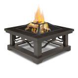 Crestone Wood Burning Fire Pit, Brown Tile
