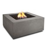 Baltic Natural Gas Square Fire Table, Glacier Gray