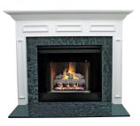 Litchfield II MDF Primed White Fireplace Mantel Surround - 42 inch