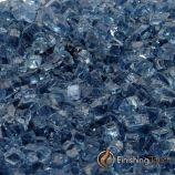 "1 Pound Bag of 1/4"" Blue Lagoon Fireglass"
