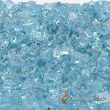 "1 Pound Bag of 1/4"" Caribbean Blue Fireglass"