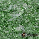 """1 Pound Bag of 1/4"""" Rainforest Green Fireglass"""