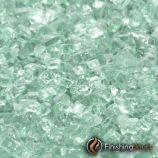 "8 Pound Container of 1/4"" Emerald Green Fireglass"