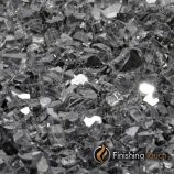 "8 Pound Bag of 1/2"" Gunmetal Gray Fireglass"