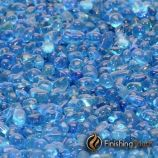 "1 Pound Bag 1/4"" Electric Blue Glass Pebbles"