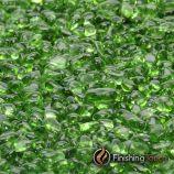 """1 Pound Bag 1/4"""" Electric Green Glass Pebbles"""