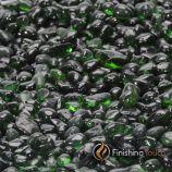 "1 Pound Bag 1/4"" Forrest Green Glass Pebbles"