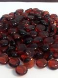 "8 Pound Container 3/4"" Amber Glass Flat Beads"