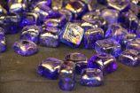 "1 Pound Bag 1"" Dark Blue Glass Ice Cubes"