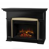 Black Holbrook Grand Electric Fireplace