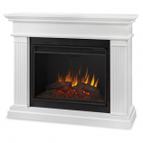 White Kennedy Grand Electric Fireplace