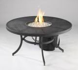"16"" Round Drop-In Crystal Fire Burner Pan"