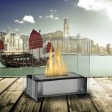 Gloss Black Paris Tabletop Ethanol Fuel Fireplace