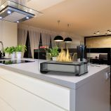 Gloss Black Toulouse Tabletop Ethanol Fuel Fireplace