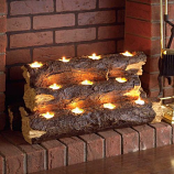 Sierra Tealight Fireplace Log By Holly and Martin
