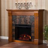 Underwood Electric Fireplace-Antique Oak